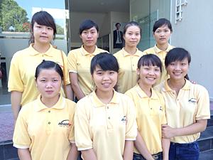 ベトナムで日本語教育を受けいている技能実習生