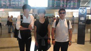 中国人技能実習生3人帰国です!成田空港にて。