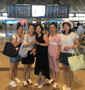 成田空港での帰国
