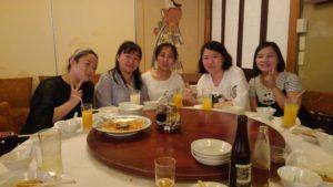 中国から5名の実習生が来ました。今日は歓迎会です。