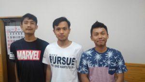 インドネシア人技能実習生3人組。いつも明るい彼らと会うのは楽しいです。